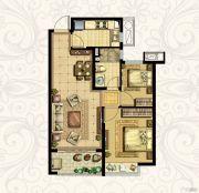 恒大御景湾3室2厅1卫76平方米户型图