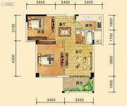 祥东金泰城2室2厅1卫69--76平方米户型图