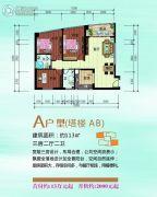 泛亚国际3室2厅2卫113平方米户型图