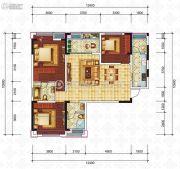 滨江国际3室2厅2卫105平方米户型图