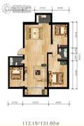华运.贻翔苑3室2厅2卫112--131平方米户型图