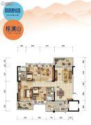 顺德碧桂园・桂澜山4室2厅2卫121平方米户型图