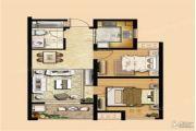 东方小镇 高层2室1厅1卫75平方米户型图
