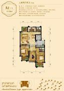 龙溪御庭3室2厅2卫136平方米户型图