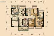 国鹏・润德学府3室2厅2卫103平方米户型图