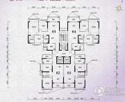 锦绣国际花城3室2厅2卫82平方米户型图