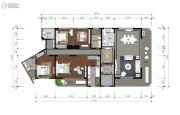 蓝光水岸公园4室2厅0卫220平方米户型图