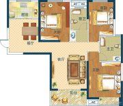 深业世纪新城3室2厅2卫113平方米户型图