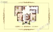 广杰龙湖华庭3室2厅1卫113平方米户型图
