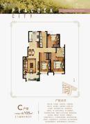 北戴河孔雀城3室2厅2卫105平方米户型图
