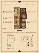 华锦锦园3室2厅2卫112--113平方米户型图