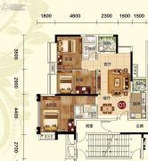天鹅湾3室2厅2卫116平方米户型图