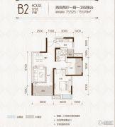 中铁城2室2厅1卫0平方米户型图