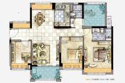 美的公馆3室2厅2卫112--113平方米户型图