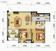 九腾1街区2室2厅1卫70平方米户型图