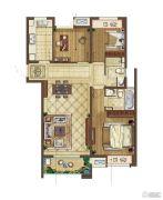 中海凤凰熙岸3室2厅2卫108平方米户型图