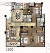 绿城深蓝公寓4室2厅2卫135平方米户型图