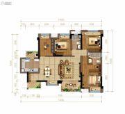佳兆业悦府4室2厅2卫126平方米户型图