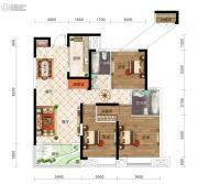 保利时代3室2厅2卫118平方米户型图