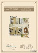 观湖壹号3室2厅2卫122平方米户型图