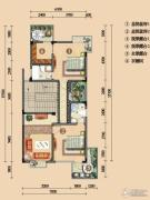 浪琴湾2室2厅0卫89平方米户型图