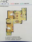 大华月光湖2室2厅1卫89平方米户型图