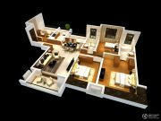雅居乐林语城3室2厅2卫141平方米户型图