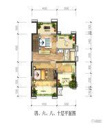 绿地国际花都4室2厅2卫0平方米户型图