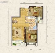 合生上观国际2室2厅1卫0平方米户型图
