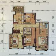 金地锦城3室2厅2卫132平方米户型图