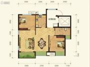 康田紫悦府2室2厅1卫60平方米户型图