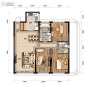 汇置尚都3室2厅2卫107--109平方米户型图