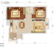 文泰欧城2室2厅1卫65--69平方米户型图