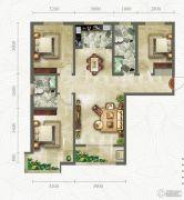 绿朗时光3室2厅2卫127平方米户型图
