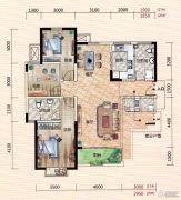 世界城3室2厅2卫126--130平方米户型图
