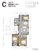 曦园3室2厅2卫146平方米户型图