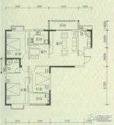 罗马景福城3室2厅2卫134平方米户型图