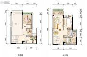 保利i立方0室0厅0卫91平方米户型图
