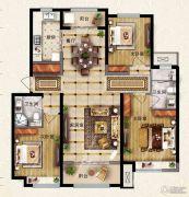 保利花园3室2厅2卫134平方米户型图