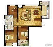 九龙仓时代上城3室2厅2卫137平方米户型图