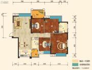 幸福东郡4室2厅2卫142平方米户型图