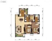 中海和平之门2室2厅1卫90平方米户型图