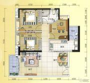 元邦明月水岸3室2厅1卫104平方米户型图