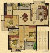 香樟美地3室2厅2卫111平方米户型图