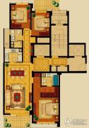 新华园3室2厅2卫153平方米户型图