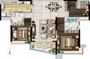雅居乐富春山居3室3厅2卫0平方米户型图