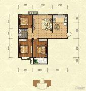印象青城3室2厅1卫118平方米户型图