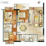 御景江南3室2厅2卫102平方米户型图