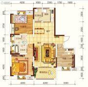 海宏江南壹号3室2厅2卫135平方米户型图