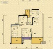 依城郡3室2厅1卫97平方米户型图